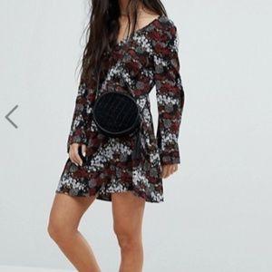 Glamorous Petite Long Sleeve Tea Dress With Button